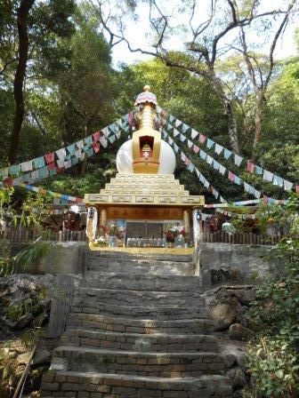 Stupa du lCang skya (1891-1957), Juillet 2013