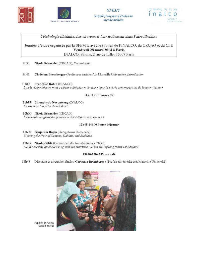 Trichologie tibetaine_programme court